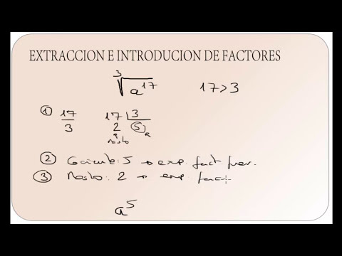 EXTRACCION E INTRODUCCION DE FACTORES EN UNA RAIZ