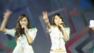 [fancam] 110910 Snowy wish @ SNSD The 2nd tour (Taiwan) 少女時代二巡 Taessica 泰西卡
