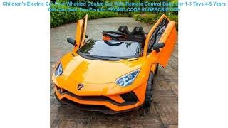 Review Children's Electric Car Four Wheeled Double Car With Remote Control Baby Car 1-3 Toys 4-5 Ye