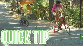 Improve Bike Handling Skills - 3 AT HOME drills (QUICK CYCLING TIP)