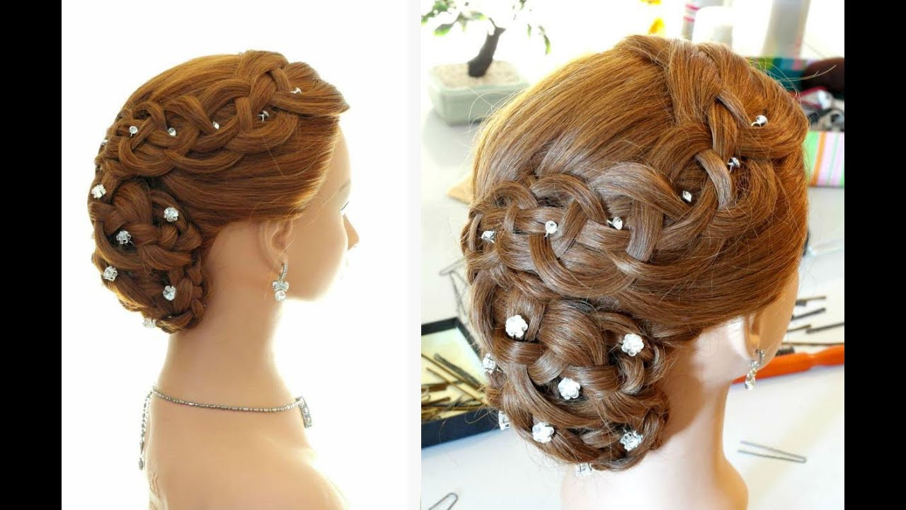 Long Hair Updo Styles: Wedding Prom Hairstyle For Long Hair. Braided Updo
