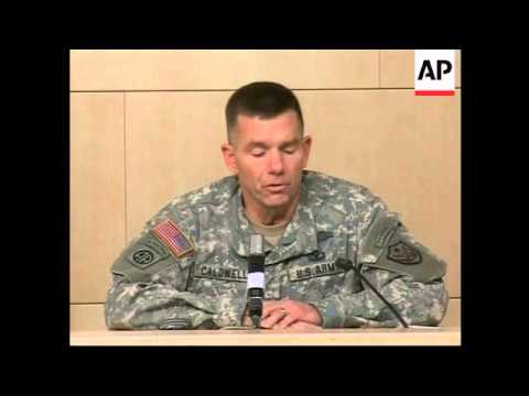 US General briefing on handover of Salahuddin province to Iraqi army