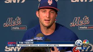 Tim Tebow Reports For Year 2