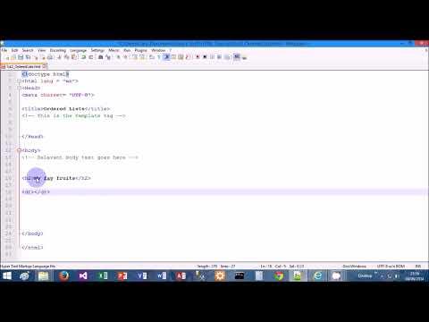 HTML Tutorial 3 -  Create Lists