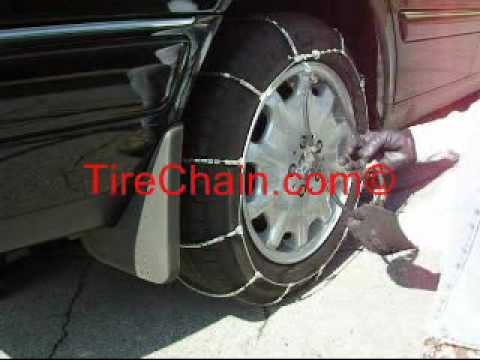 Car Cable Tire Chains Installation
