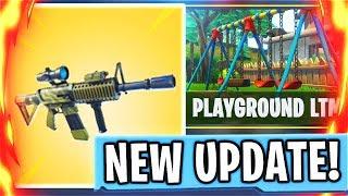 New THERMAL SCOPED AR + PLAYGROUND LTM Update! New Fortnite Battle Royale Update! (Fortnite Update)