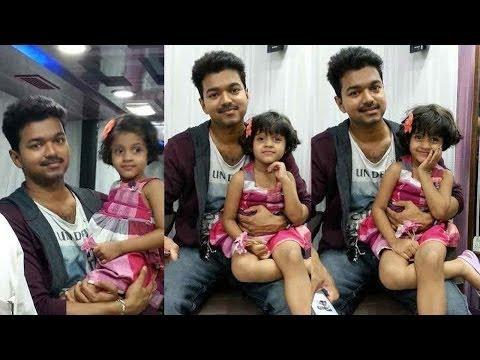 Actor Vijay Son And Daughter Photos Actor vijay visits major