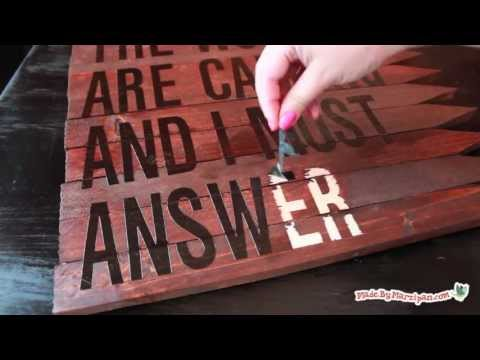 Make A Rustic Wood Sign Youtube