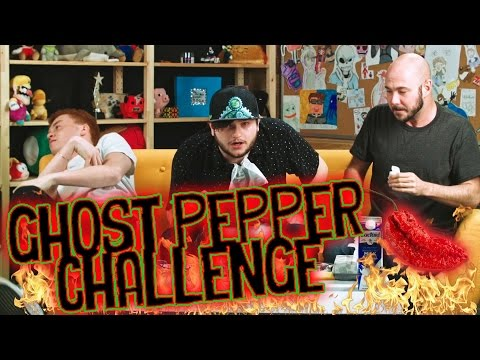 THE GHOST PEPPER SHOCK CHALLENGE! /w Sky, Red, and James