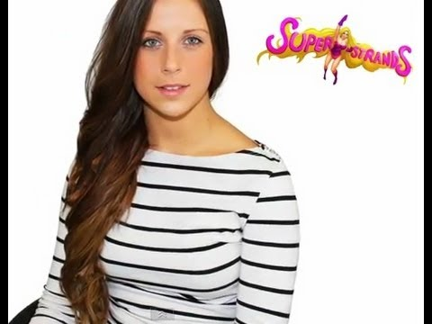 How to: One curl ponytail - unusual glamorous hairstyle from www.superstrands.com