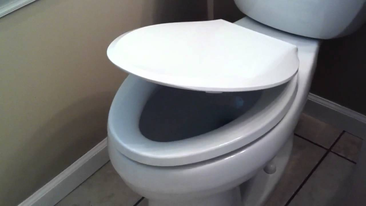 Non Slam Toilet Seat YouTube