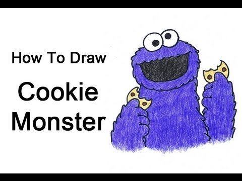 Cute Cookies Drawing How to Draw Cookie Monster