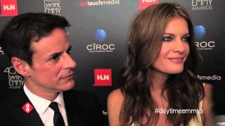 Michelle Stafford & Christian Jules LeBlanc of The Young and the Restless at the 2013 Daytime Emmys