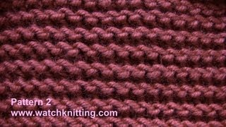 Garter stitch - Free Knitting Patterns Tutorial - Watch Knitting - pattern 2- garter stitch