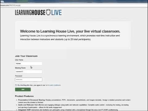 Learning House Live Login Tutorial