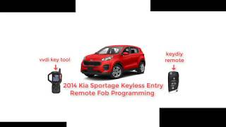 vvdi key tool 2014 Kia Sportage Keyless Entry Remote Fob Programming