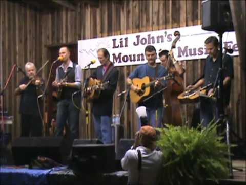 Donna Hughes, Tony Rice&others backstage at Lil' John's Mountain Music Festival