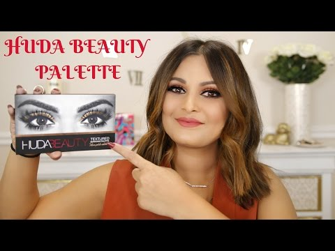 HUDA BEAUTY TEXTURED EYESHADOW PALETTE REVIEW AND SWATCHES | ROSE GOLD EDITION