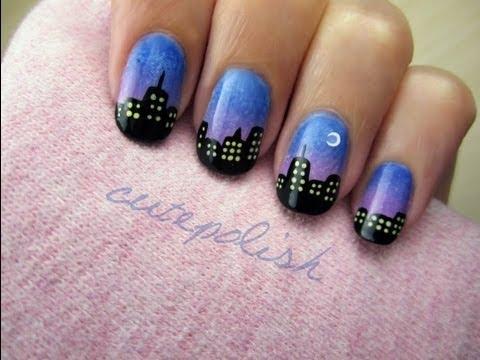 Nyc Skyline Nails City Skyline Nail Art