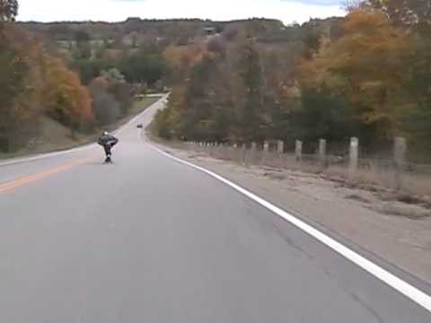 60mph 98kph on a Longboard Bombing Big Black