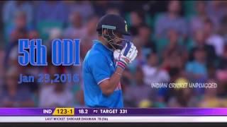 Virat Kohli Vs Australia 2016 Unplugged 720p Video
