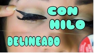 COMO DELINEAR CON HILO FUNCIONA? TRUCO / HOW TO DRAW WITH THREAD CHALLENGE