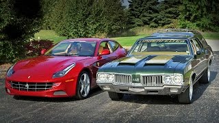 1970 Oldsmobile Cruiser vs 2012 Ferrari FF - Generation Gap: Family Cruisers