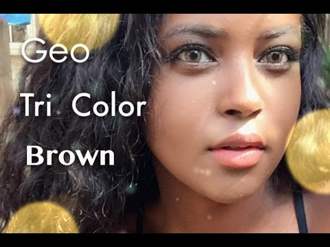 geo tri color brown cricle lens review youtube