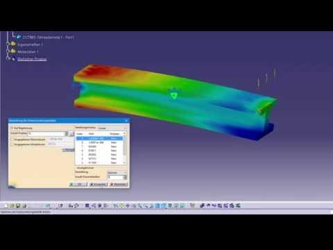 Catia V5: FEM Simulation - Balken