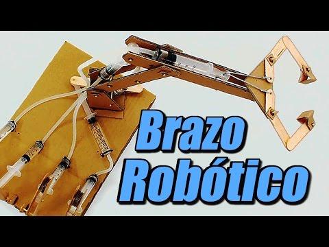 Brazo robótico con sistema hidráulico cómo se hace
