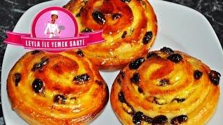 Puddingschnecken Rezepte - Pudingli Üzümlü Rulo Pogaca