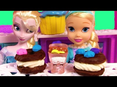 Disney Frozen Queen Elsa Toddler Playdoh Ice Cream Sandwiches Sweets Food video