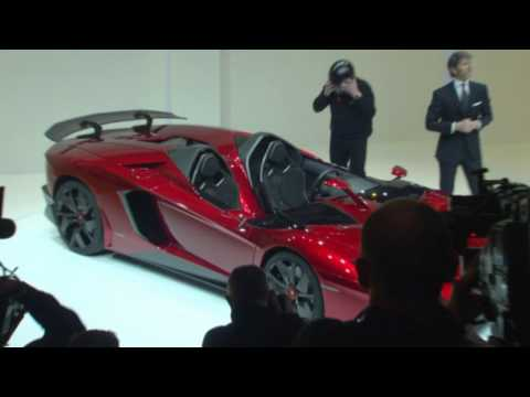 New Lamborghini Aventador J   World premiere at Geneva Motor Show 2012