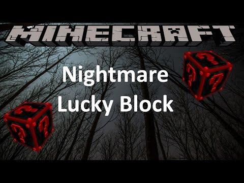 NIGHTMARE LUCKY BLOCK - MINECRAFT 1.8 (MOD SHOWCASE)
