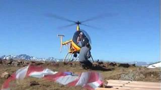 Arial work with an ultralight helicopter