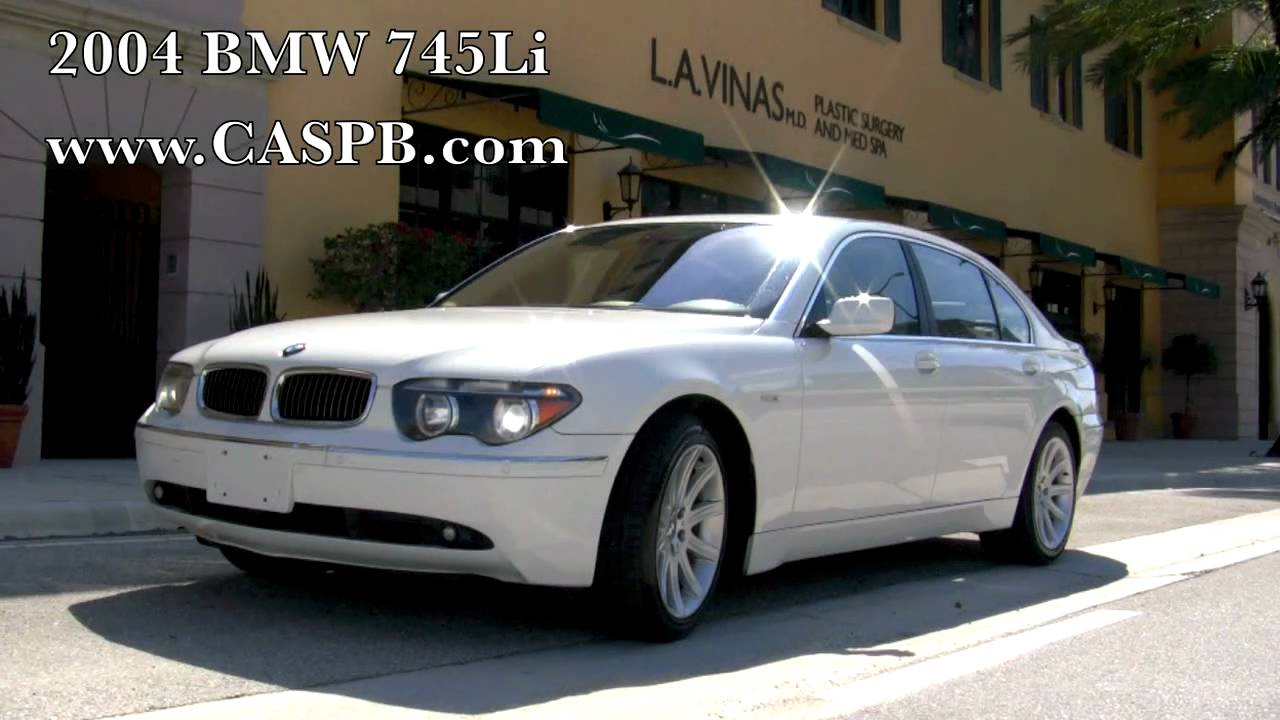 2004 bmw 745li alpine white youtube. Black Bedroom Furniture Sets. Home Design Ideas