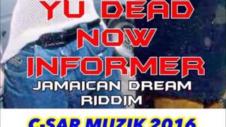 C-SAR【Jamaican Dream Riddim】YU DEAD NOW INFORMER  . Dancehall Japan  ♫Please to play with bluetooth
