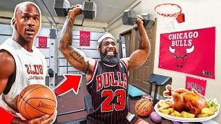 Eating The  Michael Jordan Diet & Basketball Workout For 24 Hours!