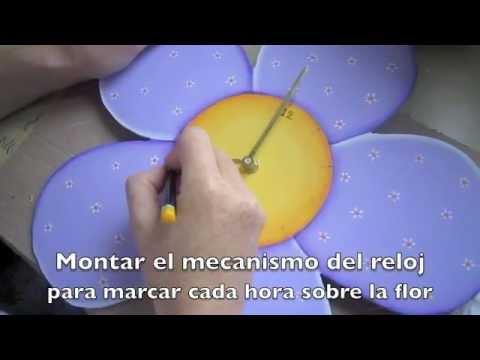 Manualidades paso a paso reloj infantil pintura country - Manualidades relojes infantiles ...