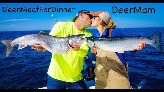 Steelhead and Massive Lake Trout {Catch Clean Cook} with DEERMOM!!!!