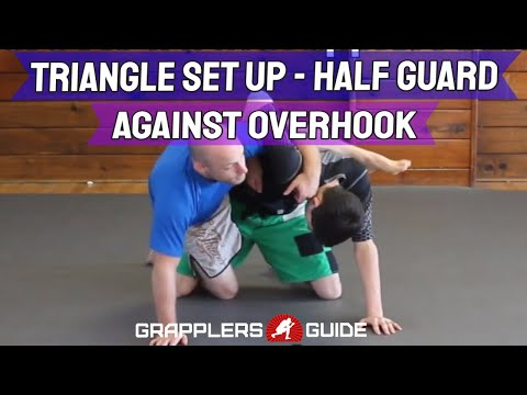 Triangle Set Up From Half Guard While Overhooked - Jason Scully BJJ Grappling Image 1