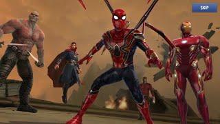 Avengers: Infinity War - Spider-man, Ironman, Doctor Strange vs Thanos (Marvel Future Fight)