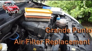 Punto How to: Air filter Replacement Grande Punto
