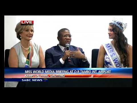 Miss World press briefing at Kempton Park