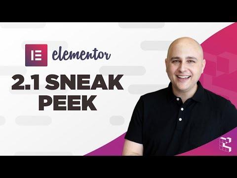 Elementor 2.1 Sneak Peek - Copy Styles, Elements, Sections + Custom Mobile Breakpoints