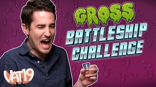 We Took Shots of Bugs, Cat Food, and More! 🤮 GROSS BATTLESHIP CHALLENGE!