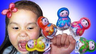 Matreshka Baby Candies Finger Family & Johny Johny Yes Papa