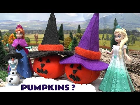 Play Doh Frozen Halloween Pumpkin Disney Princess Magiclip Thomas and Friends Anna Olaf Elsa