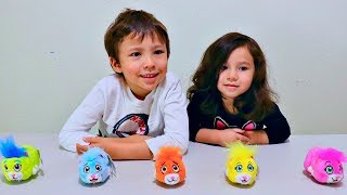 Learn Colors with Toy Hamster ZhuZhu Pets for Children