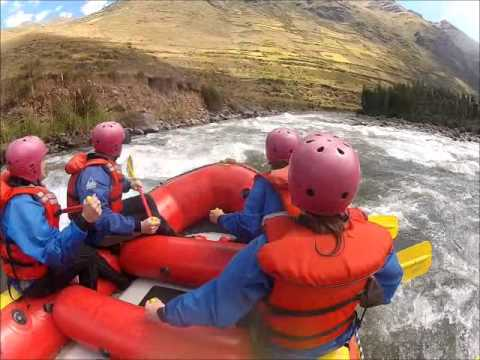 White water rafting in Peru, Urubamba, Chuquicahuana